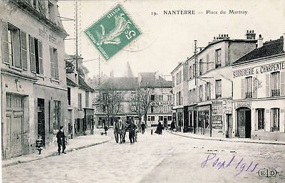 92  Cpa  Animee 1915 - Nanterre- Place Du Martray