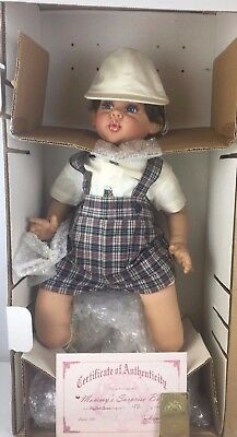 "1998 Fayzah Spanos Doll 24"" ""Mommy's Surprise Boy"" Signed Numbered COA /1000"