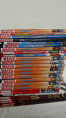 Huge 50 lot of Marvel Trades - Hardcover and Paperback - New! Great for Resale!