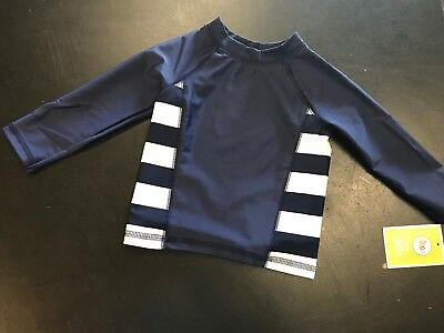 Circo Boys or Girls Gender Neutral Navy Long Sleeve Rash Guard Swim Top NWT 2T