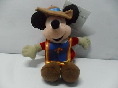 Disney Store Mickey Musketeer Mini Beanbag Beanie Plush With Tags