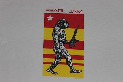 Mens XL Vtg 90s PEARL JAM Cotton T-Shirt