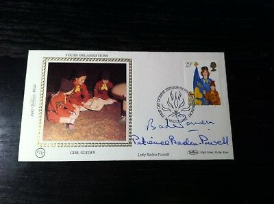Gb - Benham Silk Cover - Girl Guides - Signed By Patience Baden-Powell