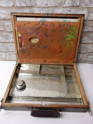 really old artists box artist storage box paint carry