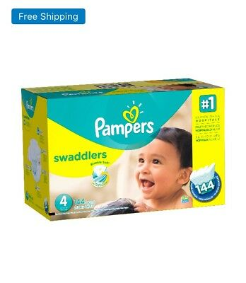 Pampers Swaddlers Diapers Size Size 4 (22–37 lb), 144 Count