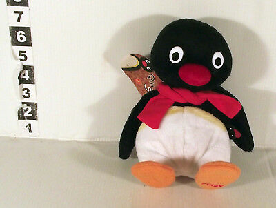 "7"" Talking Pingu Retro Bbc Tv Penguin Soft Toy With Wak Wak Sound"