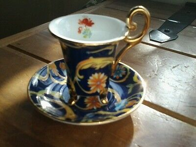 Beautiful...miniature, cup and saucer...EXCELLENT CONDITION....ORCHID.