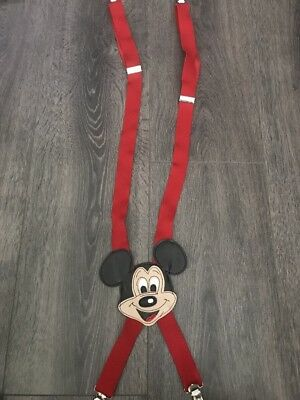 Walt Disney Production Mickey Mouse Children Suspenders Vintage 90s
