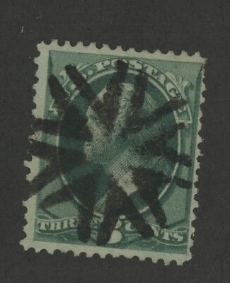 Mr Fancy Cancel 99c Special 3c Gr Circle V's Fancy Cancel #3720