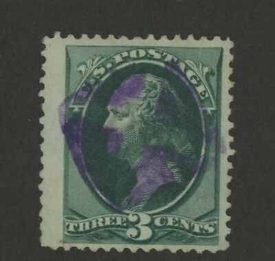 Mr Fancy Cancel 99c Special 3c Gr Purple Fancy Cancel #3719