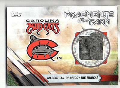 2017 Topps Pro Debut Muddy The Mudcat Mascot Tail Fragments of the Farm