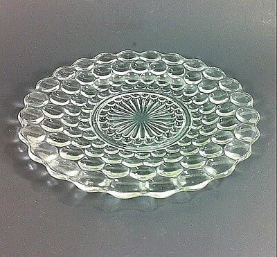 """Anchor Hocking Clear Bubble Dinner Plate 10"""" Dinnerware"""