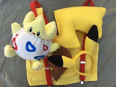 Pokemon Go Halloween Cosplay Lot Misty Pikachu Costumes with Togepi
