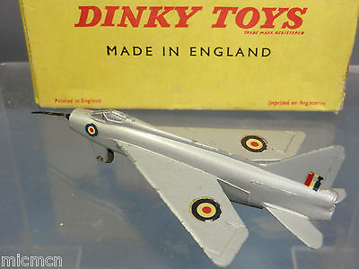 "DINKY TOYS MODEL No.737 P.IB "" LIGHTING"" FIGHTER             VN MIB"