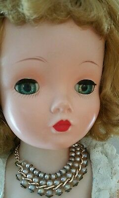 Vintage Madame Alexander Blonde Cissy Doll With Original Tagged Outfit