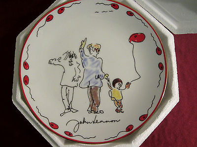 "John Lennon - The Beatles - Artwork Plate ""Peace Brother"" Limited Edition"