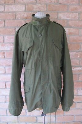 Large DARK OG 107 (But Dirty Collar) Vintage '81 US Army M-65 Jacket by WINFIELD