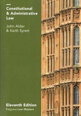 Constitutional and Administrative Law by John Alder, Keith Syrett (Paperback,...