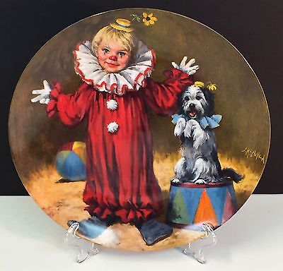 """Reco Mcclelland Children's Circus Collector Plate """"tommy The Clown"""""""