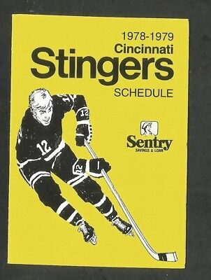 Schedule: Wha Hockey, Cincinnati Stingers, 1978-79 Official Schedule, 3 Page Fol