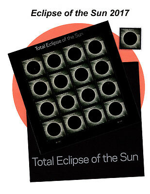 5211 TOTAL ECLIPSE OF THE SUN SHEET (16)  w/envelope & Mounted Single