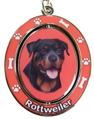 ROTTWEILER Spinning Center Double Sided Key Chain by E&S Pets
