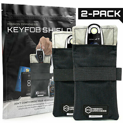 Mission Darkness Faraday Bag for Keyfobs - Anti-hacking Vehicle Security Pouch