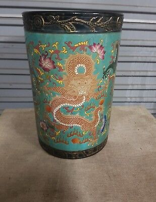 chinese large  vase/pot plant with dragons