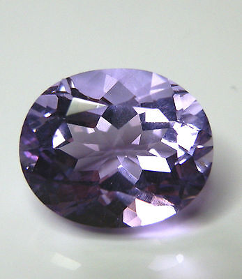 Natural earth-mined large amethyst oval gemstone...14.4 carat