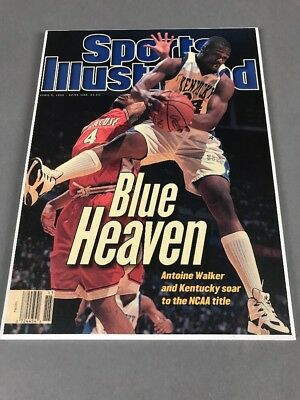 University Kentucky Antoine Walker Sealed Sports Illustrated Mounted Cover 1996