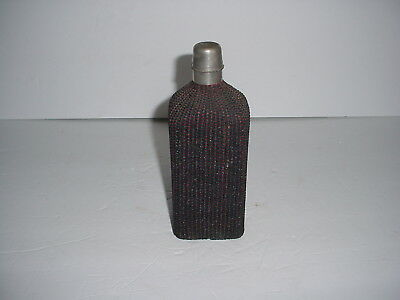 Antique Traveling Apothecary Bottle Depose Wicker Wrapped 1800