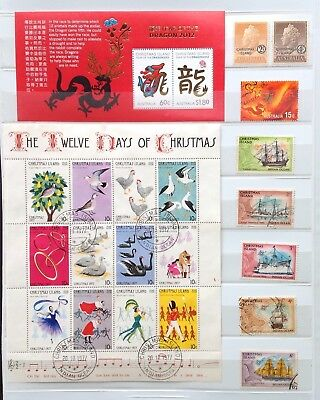 Christmas Island Fine Used Stamps (100 stamps + UHM M/S)