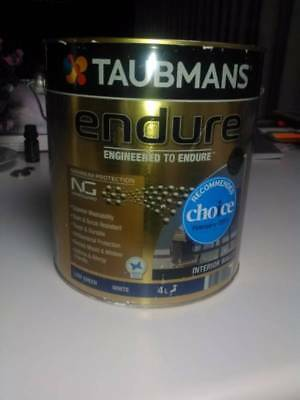 Taubmans endure low sheen interior paint Purchased 16/7