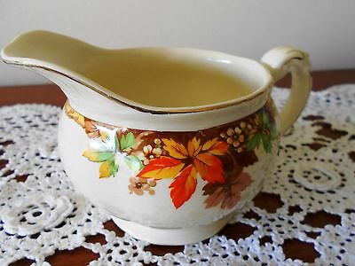 Creamer Grindley Cream Petal Alison Autumn Leaves Made In England 1940s