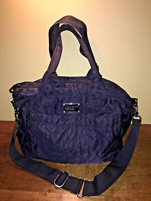 Authentic MARC JACOBS Black nylon quilted tote diaper bag