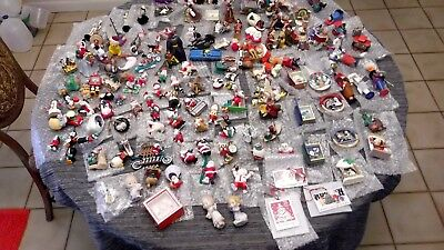 Large Lot of 140 Hallmark Christmas Tree Ornaments Some Series Mint W/O Boxes