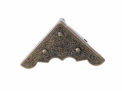 30mm BRONZE FINISH VICTORIAN STYLE CORNER BRACKET CHEST STEAMPUNK 4-8-12 PACK