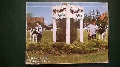 Glenafton Farms Holstein Dairy Cattle Sale Catalog 1983 Alliston Ontario Canada