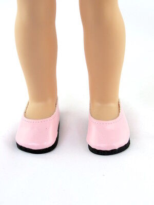 "Pink Slip On Dress Shoes Fits Wellie Wishers 14.5"" American Girl Clothes Shoes"
