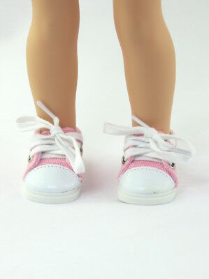 """Pink Sneakers Fits Wellie Wishers 14.5"""" American Girl Clothes Shoes"""