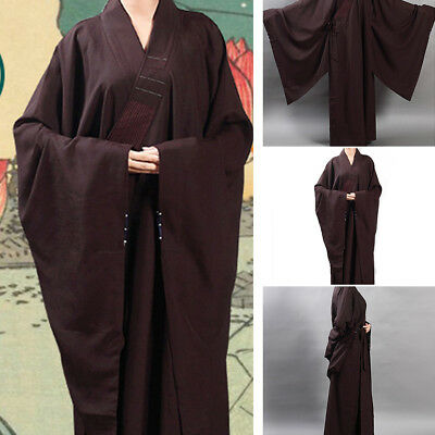 Top Quality Unisex Monk Buddhist Robe Nylon Meditation Shaolin  Kung Fu Gown