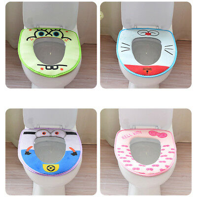 Soft Toilet Washable Bathroom Warmer Seat Lid Cover Pads Closestool Protector