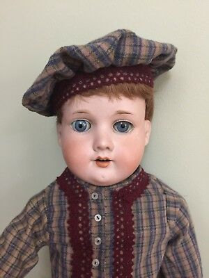 """Antique Bisque Doll Armand Marseilles 370 On A Kid Body 21"""""""