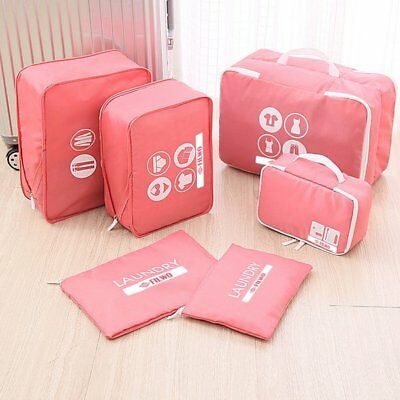 Waterproof 6 in 1 Set Travel Organizers Packing Cubes Luggage Suitcase Bags US
