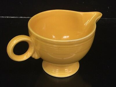 *Very Nice* VINTAGE FIESTA WARE Ring Handled Creamer in Yellow