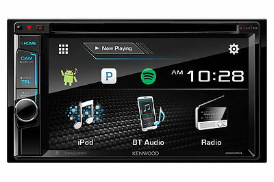 "Kenwood DDX394 In Dash Double Din 6.2"" CD DVD Receiver w/ Built in Bluetooth"