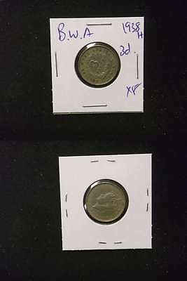 Br. W. Africa 1938H 3 Pence XF