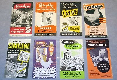 LOT of 8 Vintage 1950's  • ALBERS MILLS Mini- Brochures • Rare Collection •