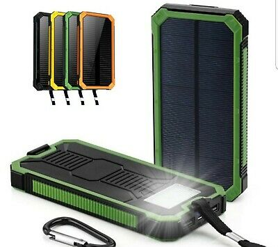 SOLAR POWER BANK CHARGER [ 500,000Mah + DUAL USB + WATERPROOF + FLASHLIGHT ]