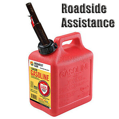 Midwest Can Company 1 Gallon Gas Auto Shutoff Gasoline water Fuel Car Emergency